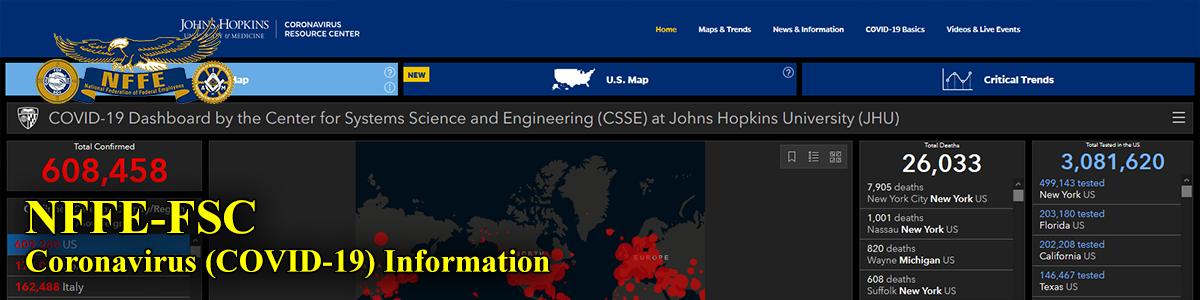 Johns Hopkins University Statistics Map